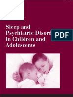Sleep and Psychiatric Disorders in Children and Adolescents