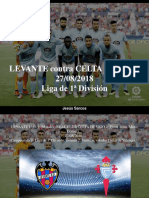 Jesús Sarcos - LEVANTE Contra CELTA de VIGO, 27-08-2018, Liga de 1ra División