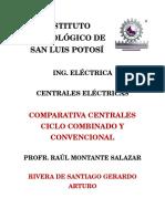 Comparativa Centrales de ciclo combinado y convencional