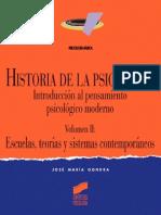 Gondra (2001) Historia de La Psicología. Vol. II Escuelas y Teorías Contemporáneas