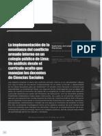 Implementacion de La Enseñanza Del Conflicto Armado Interno en Colegios