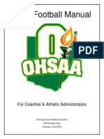 Ohsaa 2018 Football Manual