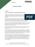 16-10-2018 Sonora a la vanguardia en la producción agroalimentaria en el país