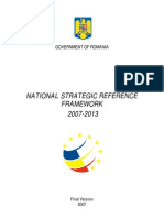 Cadrul Strategic Naţional de Referinţă 2007-2013