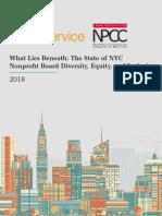 What Lies Beneath - Nonprofit Diversity in New York City