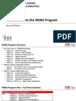 MSBA Program