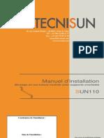 TECNISUN - Manuel d'installation SUN110 - Toiture Supports crochetés - Juin 2010