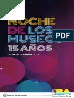 La Noche de los Museos - Folleto