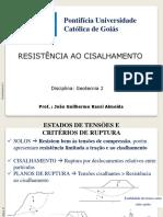 Aulas Geotecnia II_Resistencia Ao Cisalhamento