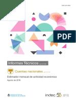 Estimador mensual de actividad económica Agosto de 2018