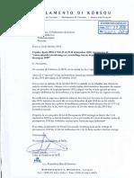 Karta 22 Oktober 2018 Frakshon Di MFK Pa Presidente - Presupuesto 2019