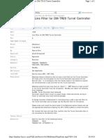 SB1266_Line Filter for DM-TR20 Turret Controller