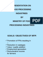 Govt of India Food Processing Presentation
