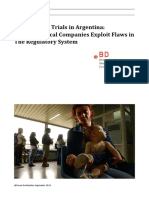 Clinical Drug Trials in Argentina - Pharma Exploits Flaws - Berne Dec 2013