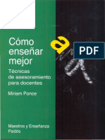 Cómo Enseñar Mejor, Tecnicas de Asesoramiento Para Docentes - Miriam Ponce