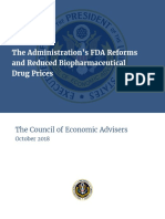 The Administrations FDA Reforms and Reduced Biopharmaceutical Drug Prices