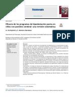 Revision Sistematica Eficacia de Los Programas de Bipedestación Pasiva
