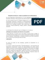 Presentación Del Curso Diagnóstico Empresarial