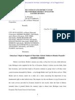 Evanston's Reply To Skokie's Response To Motion To Dismiss