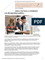 22-10-18 - Canal Sonora - Apoya Gobernadora Con Becas a Estudiantes Con Discapacidad Auditiva _ Canal Sonora