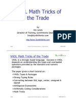 VHDL Math Tricks pdf | Vhdl | Boolean Data Type