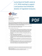 NCBOH Support of NYSACHO Letter Re Legalization of Regulated Marijuana