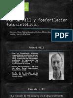 Rxn de Hill y Fosforilacion Fotosintética