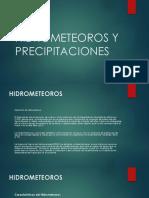 Hidrometeoros y Precipitaciones
