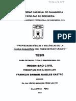 PROPIEDADES FÍSICAS Y MECÁNICAS DE LA Guadua angustifolia CON FINES ESTRUCTURALES