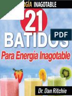 21 batidos para energía inagotable