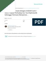 Hubungan Vietnam Dengan ASEAN (1967-1995)- Kajian Terhadap Isu-Isu Diplomatik Sehingga Vietnam Menyertai ASEAN
