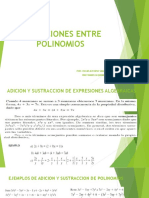 Operaciones entre polinomios