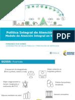 Politica Integral Deatencion en Salud Lanzamiento Nacional - Mery Barragan - Consultorsalud