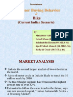 cdp model of purchasing a bike in Current Indian scenario.