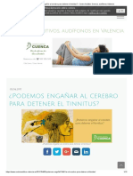 ¿Podemos Engañar Al Cerebro Para Detener El Tinnitus_ - Centro Auditivo Cuenca, Audífonos Valencia