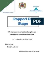 Rapport de Stage Direction Generale des Impots