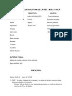 Proceso de Extraccion de La Pectina Citrica