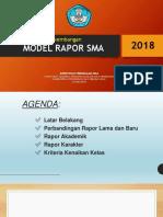 6. Perkembangan Model Rapor Sma 2018