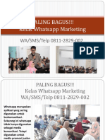 PALING BAGUS!!! Kelas Whatsapp Marketing, WA/SMS/Telp 0811-2829-002