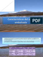 Características Del Agua Embalsada y Monitoreo