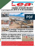 Periódico Lea Viernes 26 de Octubre Del 2018