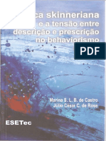 A ética skinneriana e a tensão entre descrição e prescrição no behavíorismo radical - Marina S L B de Castro & Julio Cesar Coelho de Rose, 2008(INDEX)[INDEX].pdf