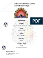 Informe Psicométrico 2 Evaluacion Arbol