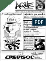Periódico Jaque Uruguay  Set 1984