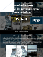 Javier Ceballos Jimenez - 7 Novedades Muy Variadas de Novela Negra Para Octubre, Parte II