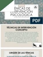 Ténicas de Intervención Psicológica