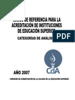 Marco de Referencia Acreditación 2007