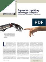 Ergonomía cognitiva y tecnología tranquila