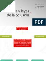 Factores y Leyes de La Oclusión