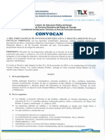 Convocatoria 2do. Foro Nacional